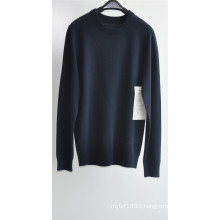 Men Round Neck Pure Color Knit Pullover Sweater